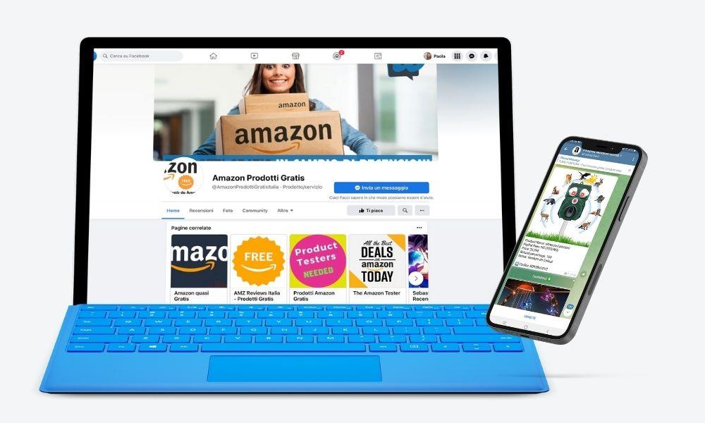 Puoi trovare i gruppi Telegram dei prodotti Amazon gratis in cambio di recensioni direttamente su Facebook